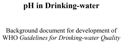 You are currently viewing pH in Drinking Water WHO Guidelines